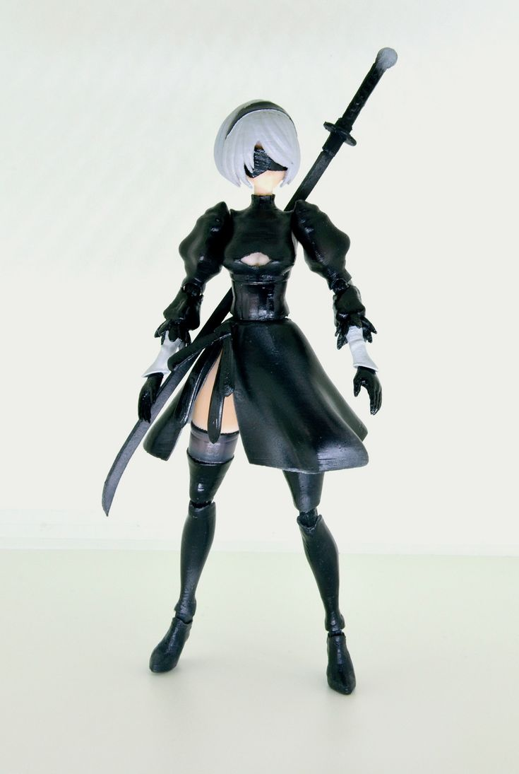 可動的自動人型2b 3d模型製作 巴哈姆特 2b Figure Frame Arms Girl Cosplay Costumes