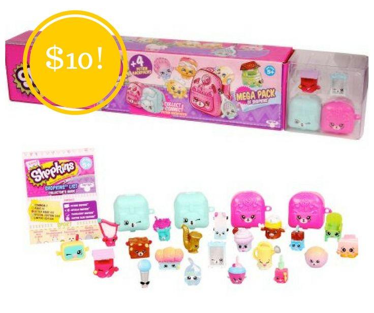 Walmart: Shopkins Mega Pack Only $10 - http://www.couponsforyourfamily.com/walmart-shopkins-mega-pack-only-10/