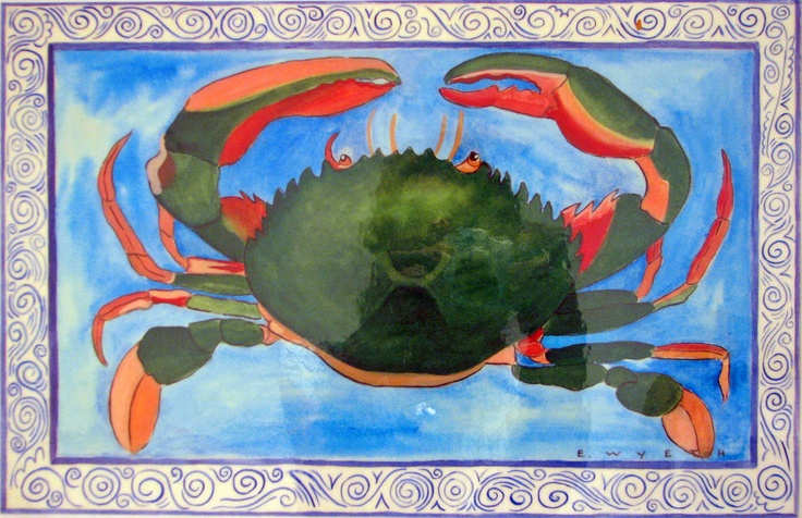 "Place mat by Ellie Wyeth - ""Green Crab"""