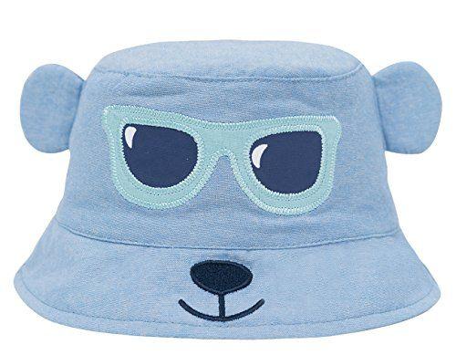 baf08d339bbf93 ERISO Baby Toddler Kids Breathable Sun Hat Animal Bucket, Stay-On ((18.8