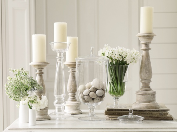 Wooden Pillar Candle Holders F O U R W A L L S