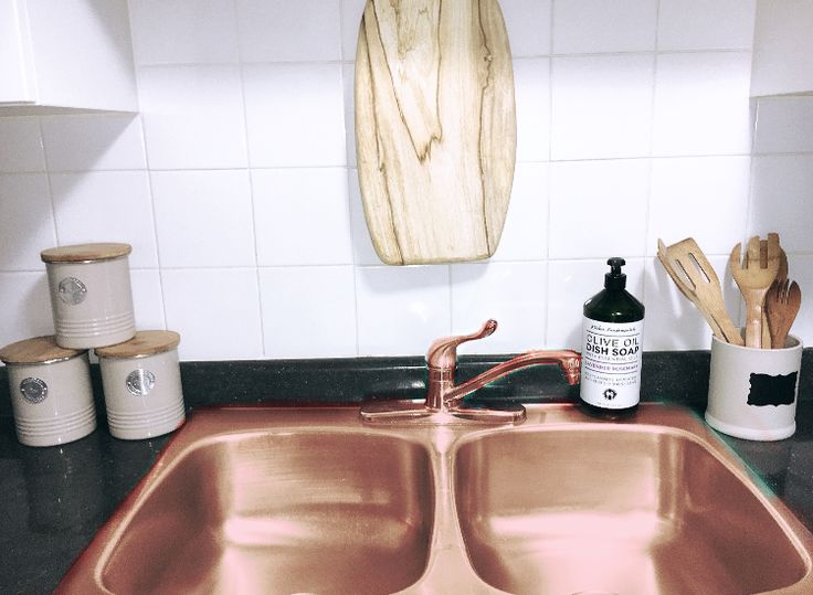 Beuatiful Kitchen 🤤😍 Rose Gold Sink Love The Wood Accents
