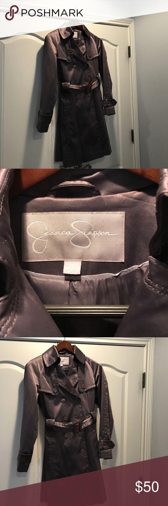 Jessica Simpson - Trenchcoat - Size Large Jessica Simpson - Trenchcoat/Raincoat - Size Large - Slate Gray Jessica Simpson Jackets & Coats Trench Coats