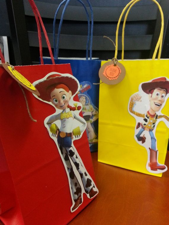 Toy Story Buzz Lightyear, Jessie, Woody Party Favor Bags | Figures Cutout Toy story on Etsy, $9.00