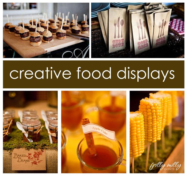creative food displaysFood Displays, Kids Parties, Fun Food, Fall Parties, Creative Food, Food Ideas, Parties Ideas, Baked Beans, Parties Food