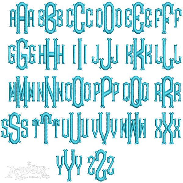 Best formal elegant embroidery fonts images on