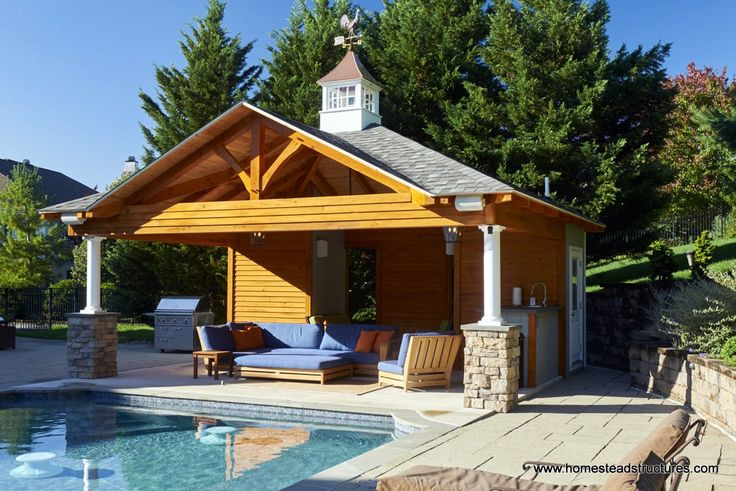 110 best images about pool houses homestead structures for Custom pool cabanas