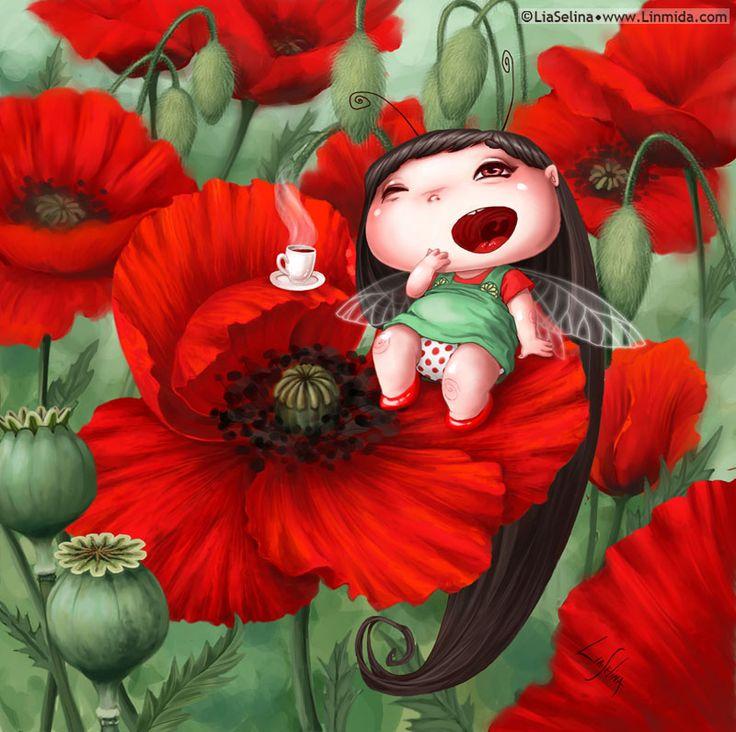 Poppy Fairy-Bug by LiaSelina.deviantart.com on @deviantART