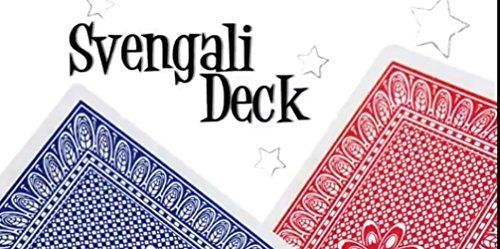 Pro Brand Bridge Size Svengali Deck - Easy Magic Card Tricks - Red or Blue * Find out @
