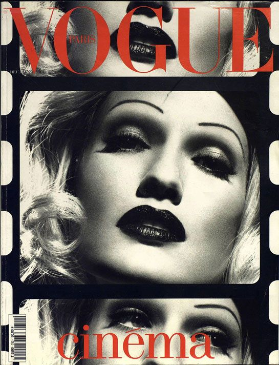 Karen Mulder joue Marlene Dietrich pour le numéro de décembre 1994 / janvier 1995 de Vogue Paris: http://www.vogue.fr/photo/les-couvertures-de/diaporama/le-cinema-en-couverture-de-vogue-paris/7774/image/517049#karen-mulder-joue-marlene-dietrich-pour-le-numero-de-decembre-1994-janvier-1995-de-vogue-paris