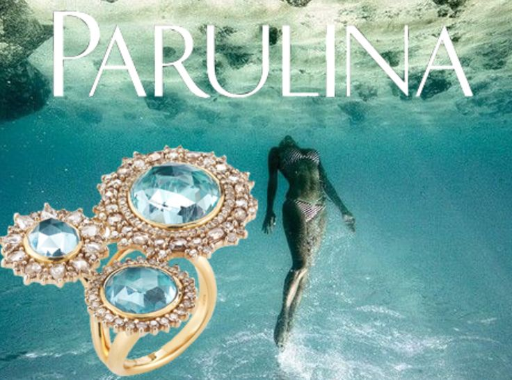 Dipping into the first Friday of this month with the oceans essential Aquamarine ring. Parulina created this ring using 18k yellow gold and 3 large rose cut aquamarine gemstones which were ethically sourced and made locally in NYC. As much as we love traveling we support local business and the craft of the jewelers in the Diamond District. #parulina #ring #ringbling #aquamarine #gold #18k #underwater