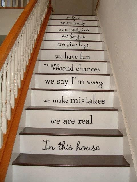 Wall Decal   Stairway Decal   In This House   STAIR CASE   Art Wall Decals  Wall Stickers Vinyl Decal Quote U0027I Want This On My Stairs When I Get A  House! Amazing Pictures