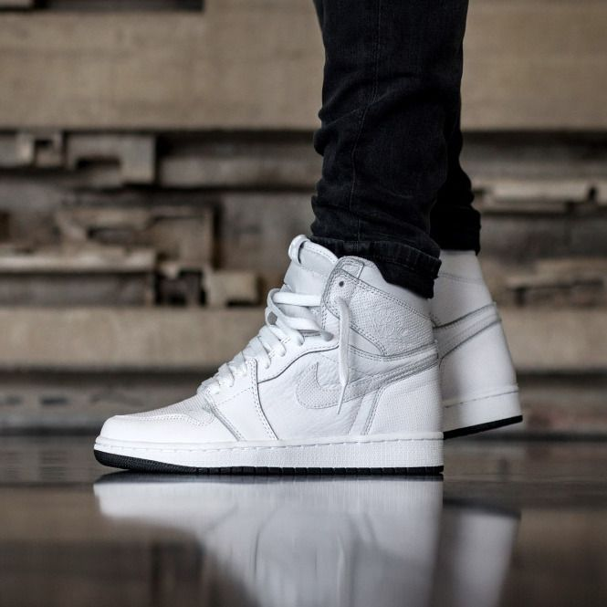Nike Air Jordan Retro 1 High OG Custom Perforated White