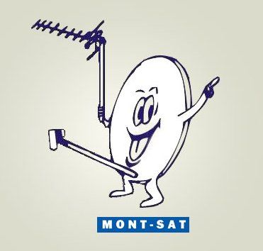 Mont-Sat is a Polish company whose technicians are more than happy to install a satellite in your home or business. It's never changed its peppy logo.