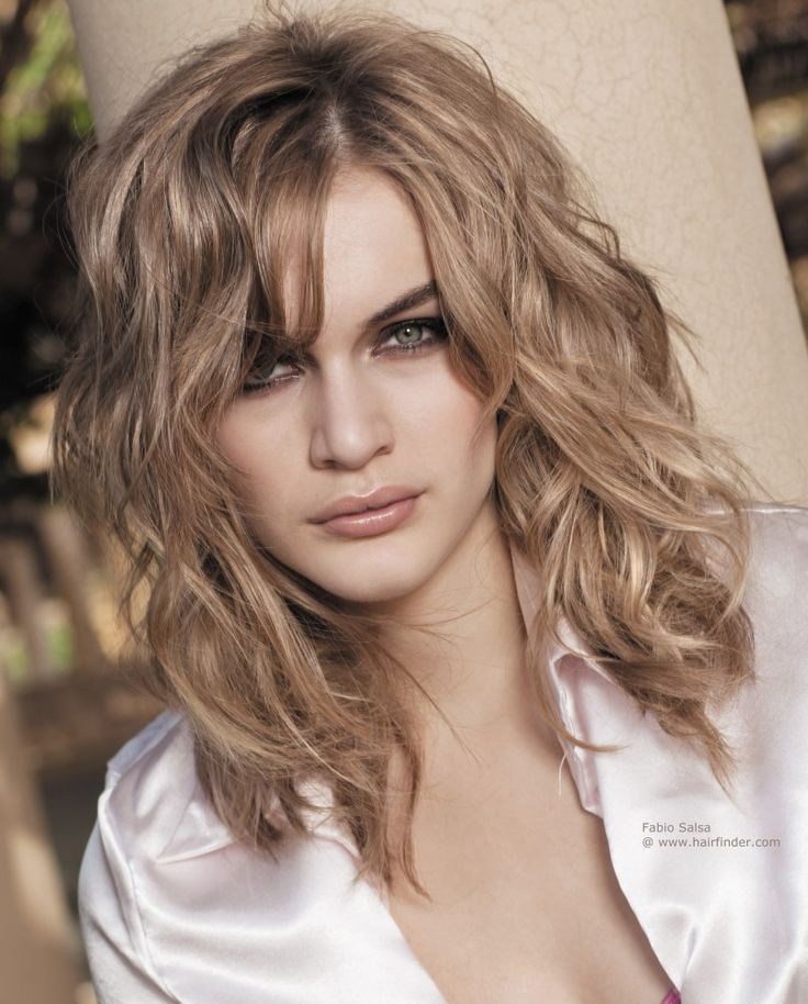 layered haircuts for curly hair with bangs layered haircuts for naturally wavy hair 4653