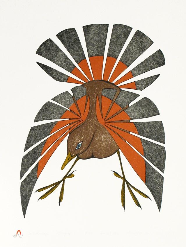 "Aoudla Pudlat, Inuit artist, ""Fall Plumage"""