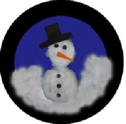 #knutselen met #kinderen tijdens #kerst: #DIY sneeuwman