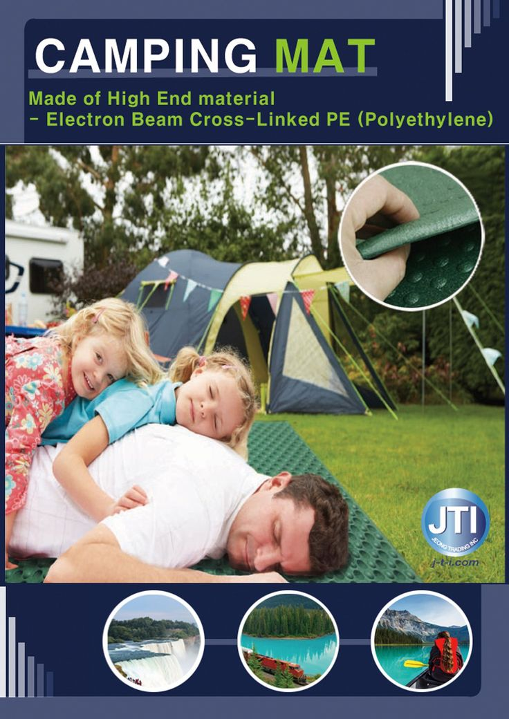 JTI - CAMPING MAT EXTRA LARGE - ( ELECTRON BEAM CROSS-LINKED POLYETHYLENE ). Can be used as everyday outdoor mat for all ages. Thick enough for comfortable usage and easy to transport with bag. Easy to use; does not required to inflate - ready to use, just unfold the mat. Multi-purpose ground mat - can be used for simple picnic in the park. Easy to clean the surface - can be clean with water and soap.