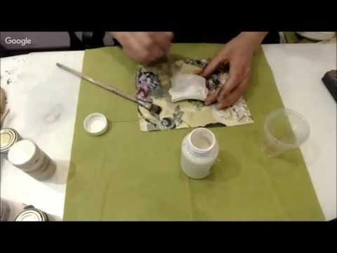 Два способа окрашивания пластиковых элементов Университет декупажа Оксана Демикова - YouTube