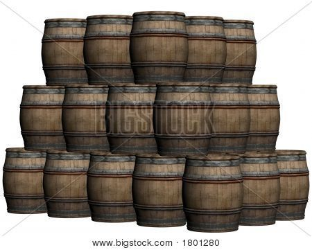 Wooden Display Barrels for Sale | Wooden Barrels Stock Photo & Stock Images | Bigstock
