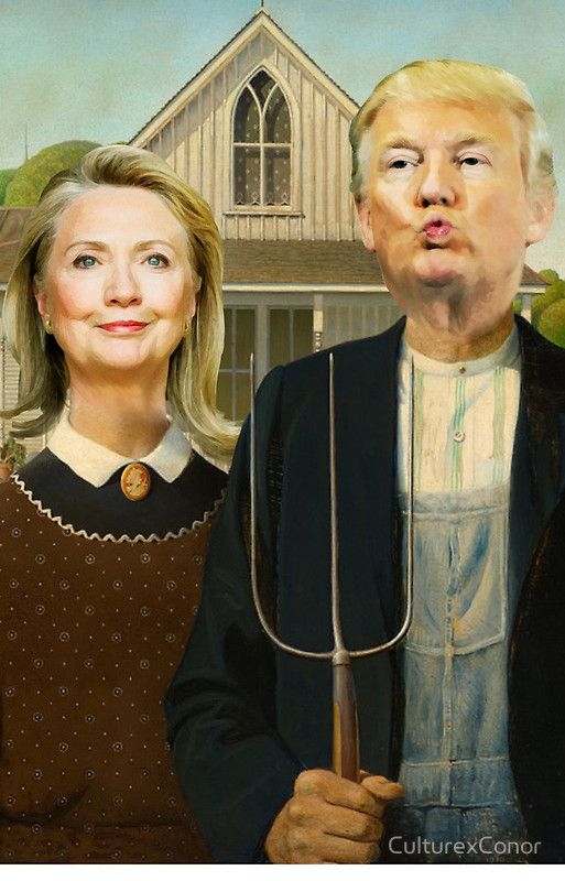 American Gothic 2016... lol at this clever piece