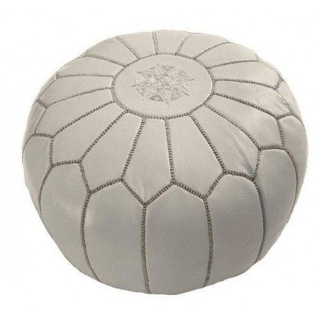 moroccan pouf gray