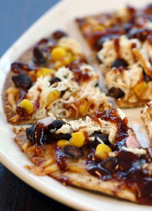 Skinny BBQ Chicken Flatbread