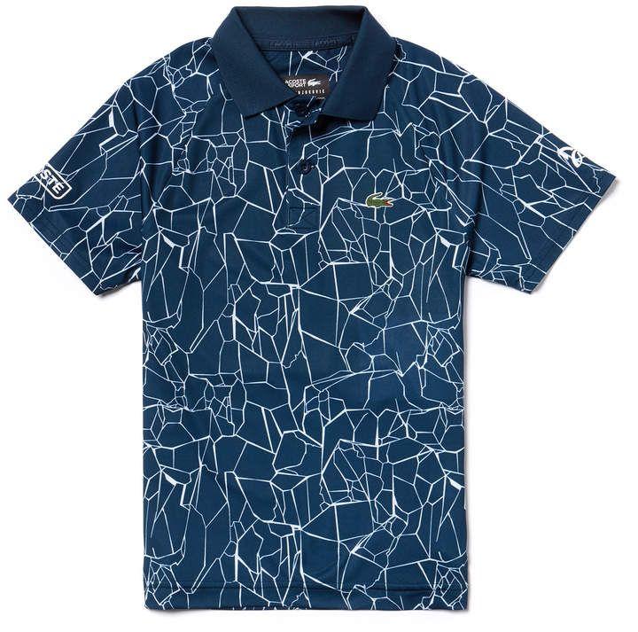 Lacoste Boys Sport Print Technical Jersey Polo X Novak Djokovic Off Court Premium Edition Lacoste Kids Shorts Mens Outfits