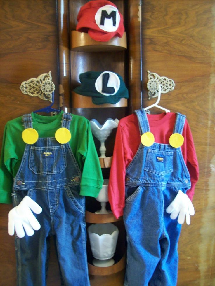 Alex and Carter said they wanted to be Mario and Luigi for Halloween :)  Looking for ideas now, yay!