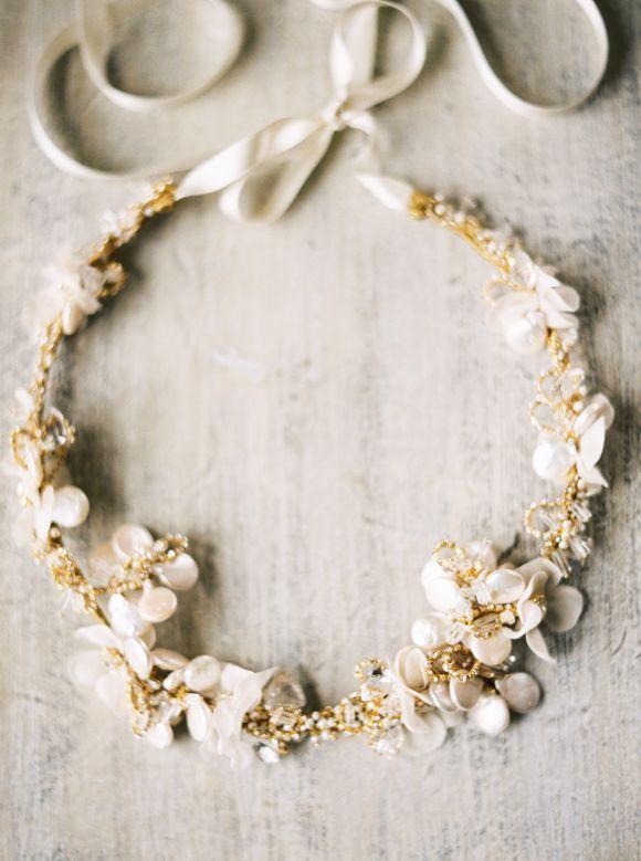 Flower crown #blumenkrone #beige #haarschmuck
