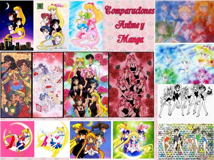 Imágenes del manga vs imágenes del anime - Sailor Moon España