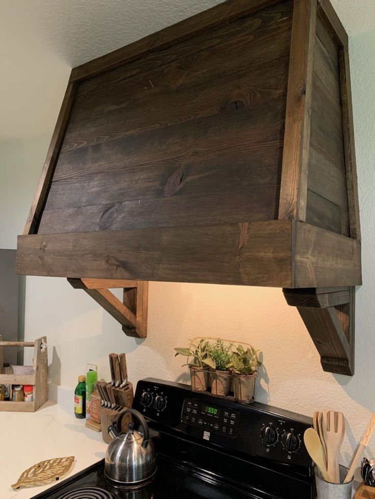 Diy rustic vent hood cover in 2020 with images vent