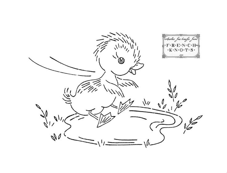 Ugly Duckling Series Embroidery Transfer Patterns