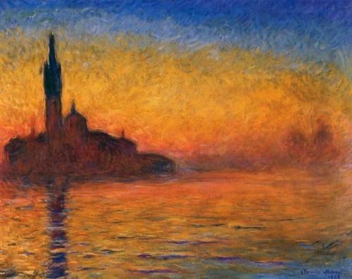 Twilight, Venice  Claude Monet