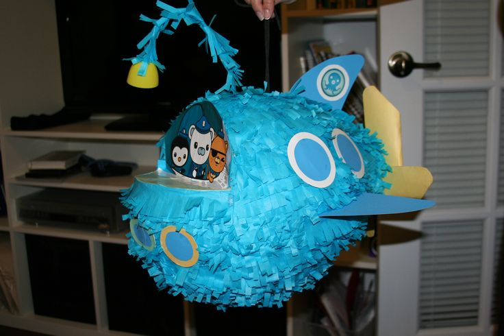 d i y  pinata made of paper mache