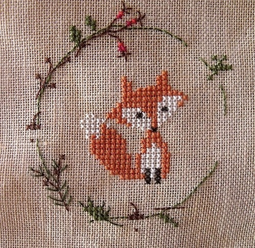 Fox cross stitch; adorable!