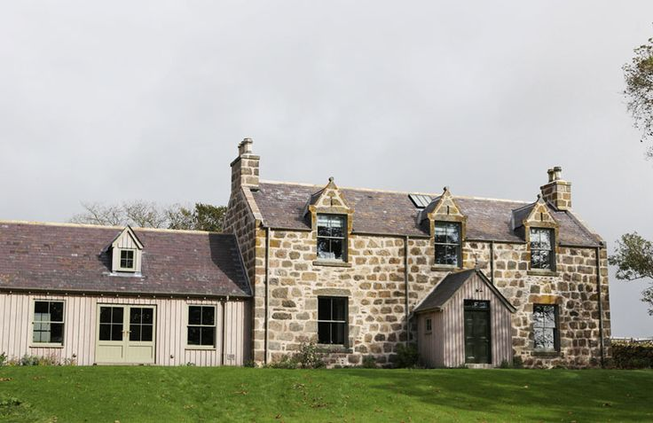 Abandoned 19th Century Highland traditional stone built farmhouse. The new open plan interior provides comfortable and convenient family accommodation. http://anta.co.uk/made-in-scotland/architecture/ #anta #architecture