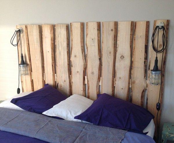 17 meilleures id es propos de bois de coffrage sur - Tete de lit en planche de coffrage ...