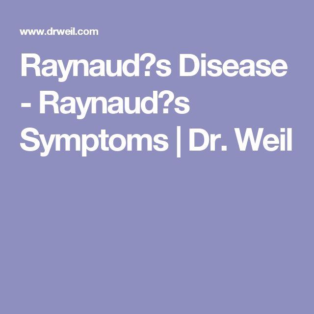 Raynaud�s Disease - Raynaud�s Symptoms   Dr. Weil