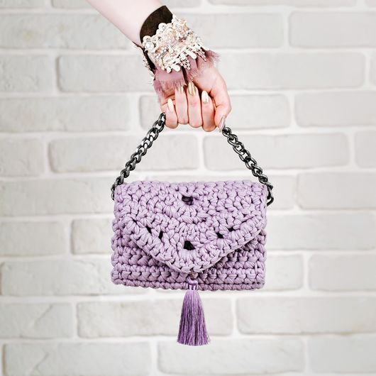 Женские сумки ручной работы. Ярмарка Мастеров - ручная работа. Купить Сумка вязаная из трикотажной пряжи. Handmade.
