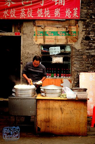 Street Food Vendor in the Hutongs of Beijing, China