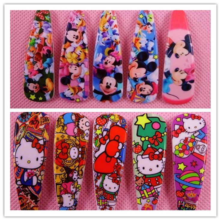 5Pcs Hello Kitty Mickey Minnie Barrettes Hair Pin Cute Kids BB Hair Clips Headwear Girls Rim Hair Ornaments  Hair Accessories #Affiliate