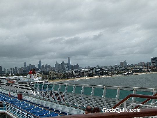 A view of New Zealand from the ship.