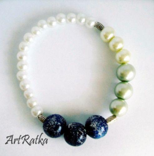 Bransoletka - szklane koraliki - ArtRatka - Biżuteria