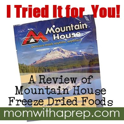 I tried it for you!!! A Review of Mountain House Freeze Dried Foods - Chili Mac by {Mom with a Prep}