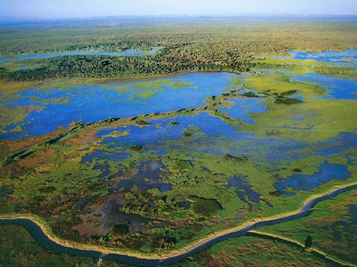 Aerial view, Kakadu National Park during wet season