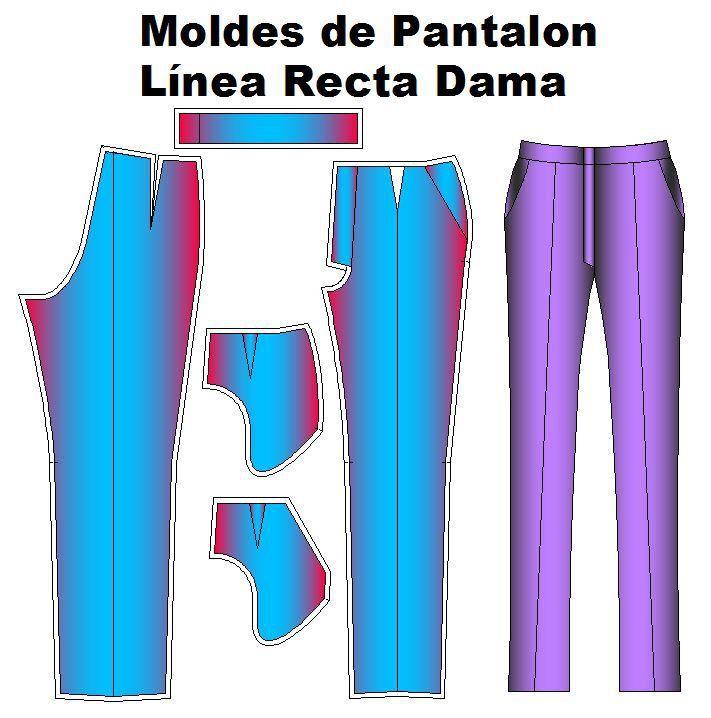 Moldes de pantalon de vestir de dama.   Moldes de Ropa y Sistemas de Diseño y Patronaje