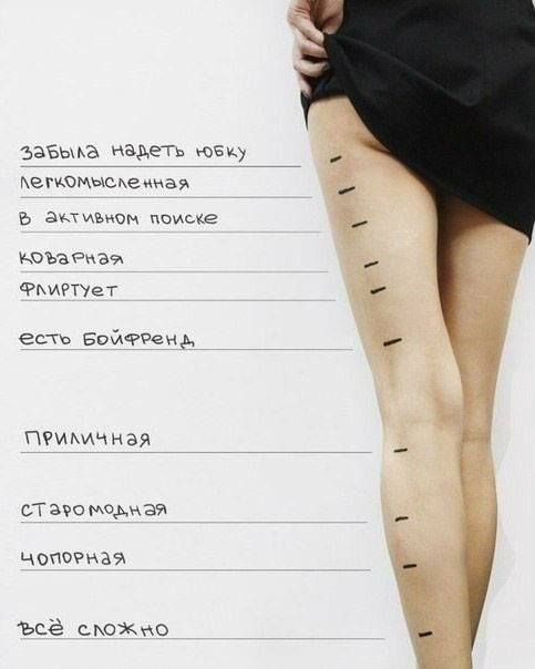 Длина юбки...