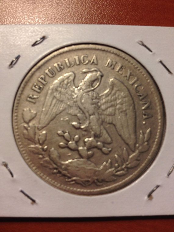 Mexico 1902 Un Peso Silver Coins By Upcycledupstyled On