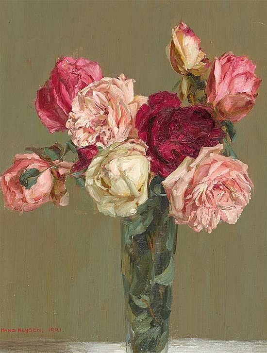 HANS HEYSEN 1877-1968 Roses 1921 oil on canvas on board